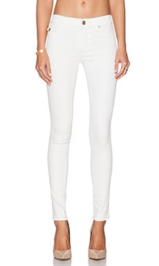 True Religion Halle Mid Rise Super Skinny in Optic White