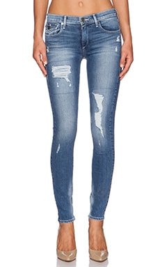 True Religion Halle Mid Rise Skinny in Dusty Bleacher