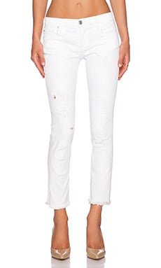 True Religion Cora Crop in Optic White