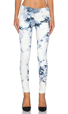 True Religion Halle Mid Rise Super Skinny in Blue Haze