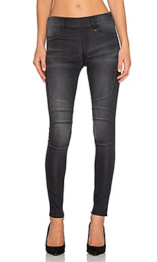 True Religion Runway Moto Legging in Ghost Light Wash 2