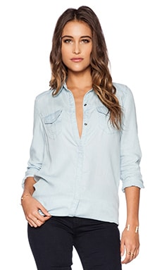 True Religion Indigo Georgia Top in Light Blue