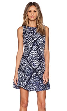 TRYB212 Laura Dress in Indigo Batik Print