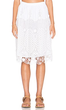 TRYB212 Kanga Skirt in White