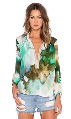 TRYB212 Joan Blouse in Tree Print