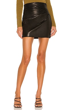 Leather Gathered Skirt The Sei $759 NEW