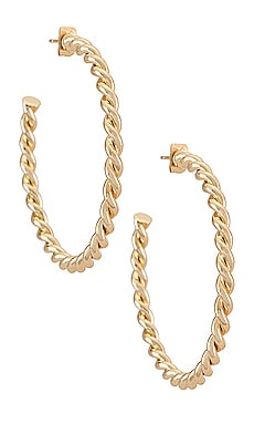 Twisted Florence Hoop Earrings The M Jewelers NY $38