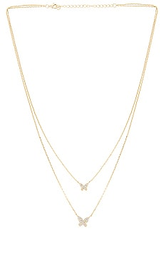 Double Pave Butterfly Necklace The M Jewelers NY $100