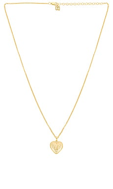 Heart Letter Pendant Necklace The M Jewelers NY $88