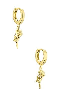 Rose Hoop Earrings The M Jewelers NY $65