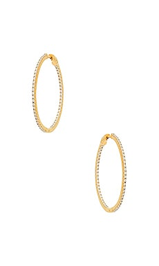 Bamboo Hoop Earrings in Metallic Gold The M Jewelers NY VbpC0QbX