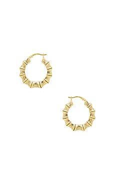 Купить Серьги-кольца bamboo - The M Jewelers NY, Золотой, США, Металлический золотой