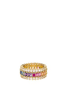 Three Row Rainbow Ring The M Jewelers NY $100 BEST SELLER