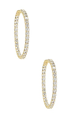 The Large Pave 925 Hoops The M Jewelers NY $175