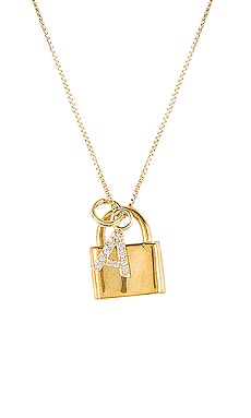 The Lock A Initial Necklace The M Jewelers NY $110