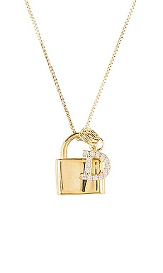 The Lock D Initial Necklace The M Jewelers NY $110