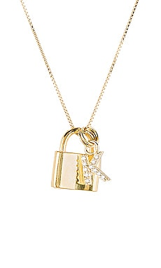 The Lock K Initial Necklace The M Jewelers NY $110