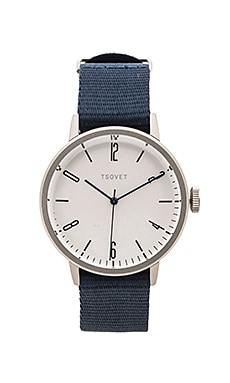 Tsovet SVT-CN38 in Stainless Silver & Black & Navy
