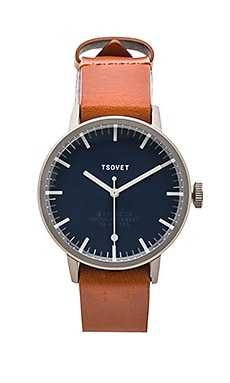 Tsovet SVT-SC38 in Stainless & Navy & Tan