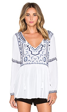 Tessora Embroidered Top in White