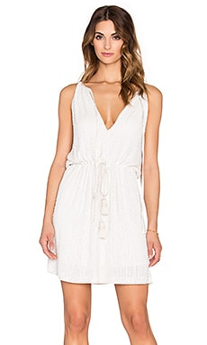 Tessora Keyhole Mini Dress in White