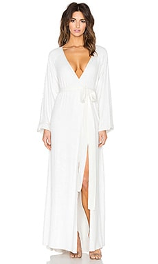 Tessora Wrap Dress in White