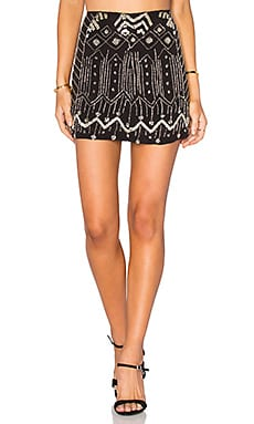 Tessora Embellished Mini Skirt in Black