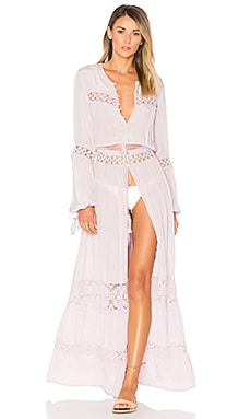 Crochet Panel Maxi Dress