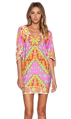 Trina Turk Woodblock Floral Cover Up in Pinkberry