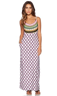 Trina Turk Kon Tiki Maxi Dress in White