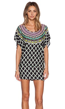 Trina Turk Kon Tiki Tunic in Black