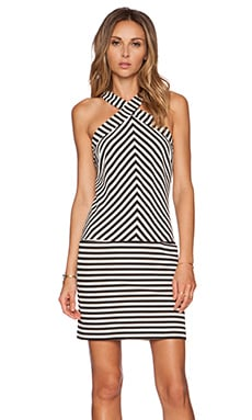 Trina Turk Alicina Dress in Black & White Wash