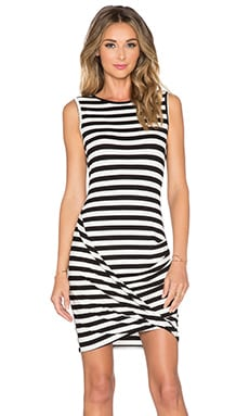 Trina Turk Adriana Dress in Black & White