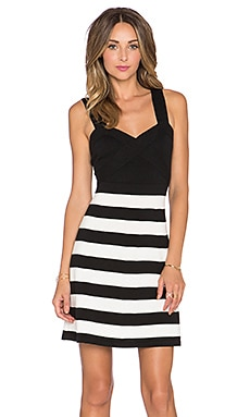 Trina Turk Envy Dress in Black & Whitewash