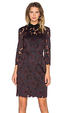 Trina Turk Killian Mini Dress in Black & Brandywine