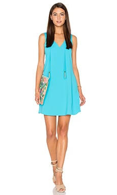 Arleen Mini Dress en Blue Grotto