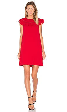 Ruffle Dress in Ruby Rose