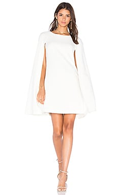 Gizela Cape Dress in Whitewash