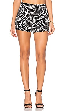 Trina Turk Corbin 2 Short in Black & Whitewash