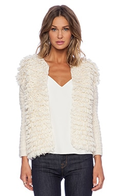 Trina Turk Shaggy Sweater in Ecru