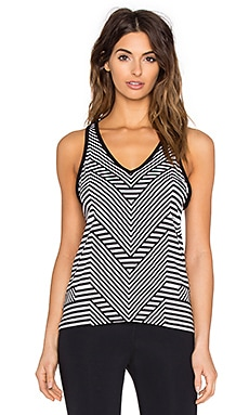 Trina Turk New Core Solids Jersey Draped Tank in Black