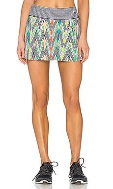 Trina Turk Neon Lights Pleated Tennis Skirt in Multi