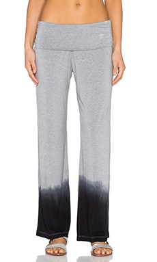 Trina Turk Ombre Jersey Roll Top Wide Leg Pant in Black