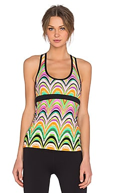 Trina Turk New Wave Racer Back Tank in Multi