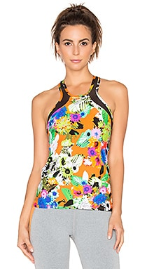 Trina Turk Pop Floral Mesh Back Tank in Multi