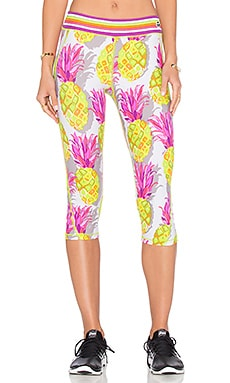 Trina Turk Pineapples Mid Length Legging in Multi