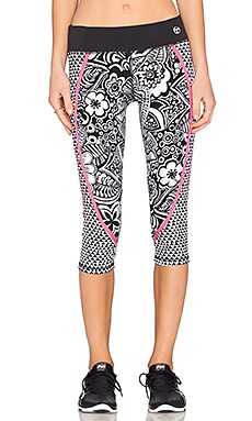 Pop Tropics Mid Length Legging