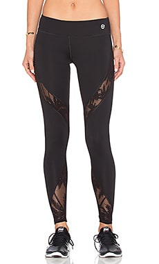 Trina Turk Island Mesh Full Length Legging in Black