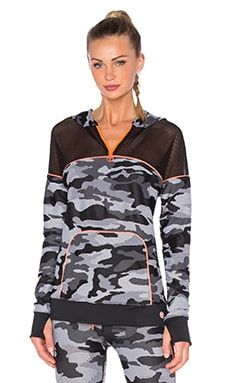 Congo Camo Zip Front Jacket in Black