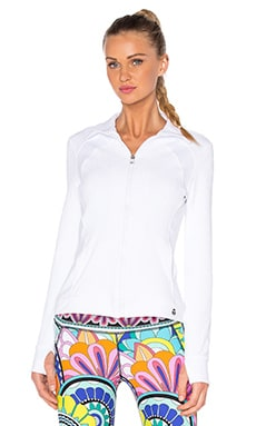 Trina Turk Patchwork Jacquard Jacket in White